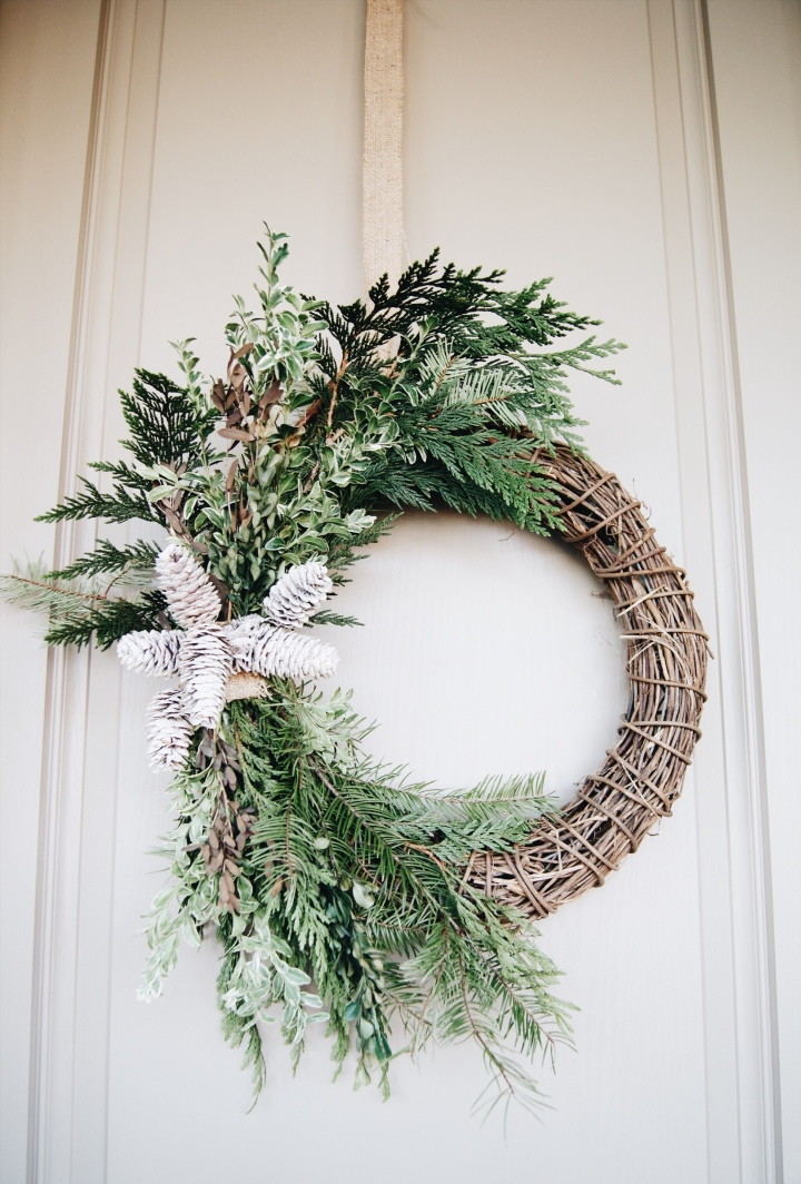 Fresh Winter WreathDIY