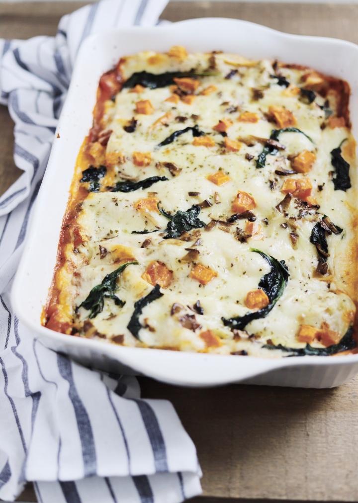 Sweet Potato Spinach & MushroomLasagna