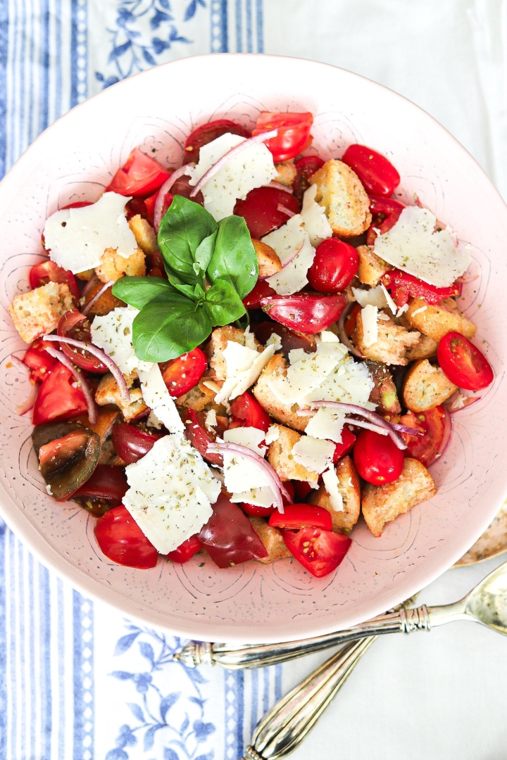 Heirloom Panzanella with Asiago